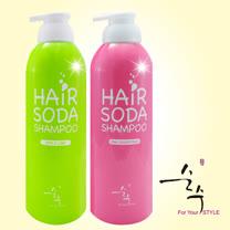 韓國SOONSOO蘇打綿密幕斯果香洗髮精250ml兩入組-(青綠蘋果/粉紅葡萄柚)