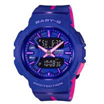 CASIO 卡西歐 BABY-G 跑步首選時尚雙色錶帶設計 BGA-240L-2A1