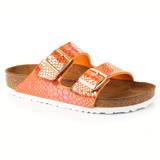 勃肯BIRKENSTOCK 1005288。ARIZONA亞利桑那 經典二條拖鞋(閃亮石紋.橙色)