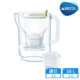 【德國BRITA】Style 3.6L純淨濾水壺_萊姆綠(內含MAXTRA Plus 濾芯1入)