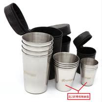 露營野餐必帶不銹鋼四件杯套組