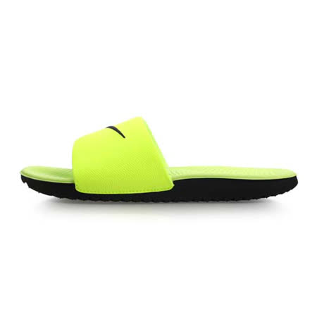 (女) NIKE KAWA SLIDE-GS/PS運動拖鞋-游泳 休閒 海邊 螢光黃黑