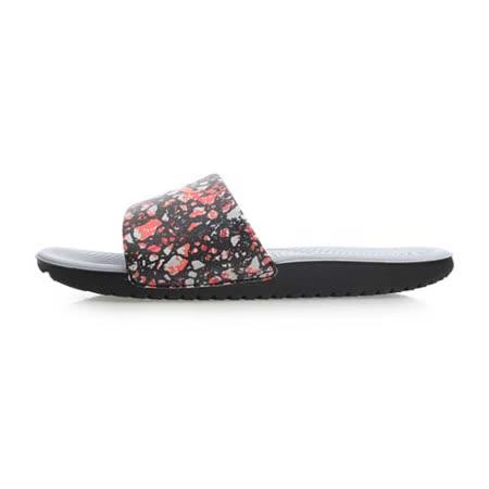 (女) NIKE KAWA SLIDE PRINT 運動拖鞋-游泳 海邊 海灘 灰黑橘
