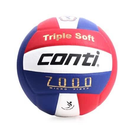 conti 5號球 日本超細纖維結構專利排球-排球協會指定用球 DVV1認證 藍紅白 F