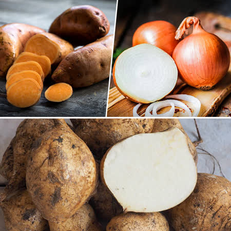 鮮採家 小資家庭綜合蔬果箱D組(洋蔥+地瓜+豆仔薯)