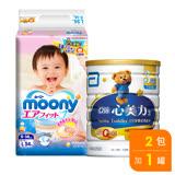 亞培 心美力3號1700g+滿意寶寶 日本頂級版紙尿褲(L)(54片 x 2包)