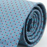 【Alpaca雅派】灰底藍黑相間圓點領帶