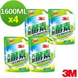 3M 天然酵素草本護纖濃縮洗衣精補充包1600ml*4包