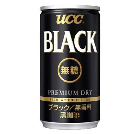即期品《日本UCC》BLACK無糖黑咖啡飲料185g(19罐/箱)