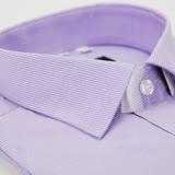 【金安德森】紫色白條紋窄版短袖襯衫