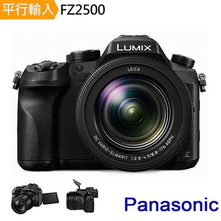 Panasonic Lumix DMC-FZ2500 4K高倍變焦相機*(中文平輸)-送副廠電池+單眼相機包+強力大吹球+細纖維拭鏡布+極細毛刷+數位清潔液組+高透光保護貼