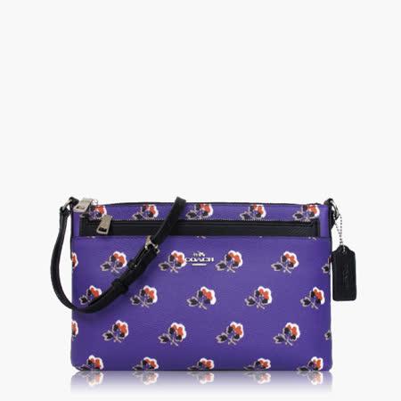 COACH 輕便小包 PVC / 側背 / 斜背包(特殊款)_紫黑
