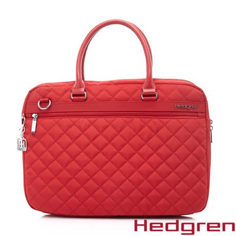 Hedgren 15吋電腦公事包-紅色