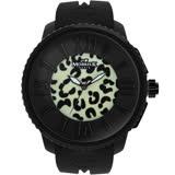 MORRIS K「舞極限」時尚豹紋休閒錶(小-夜光花豹版)_MK10205-KB203