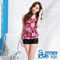 夏之戀SUMMERLOVE 艷紅長版二件式泳衣(E13796)
