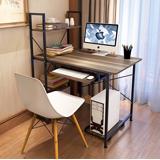 Style-多功能雙向層架電腦工作書桌-附鍵盤+主機架