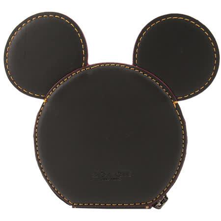 COACH 限量 米奇聯名款大耳朵零錢包(黑)F59071