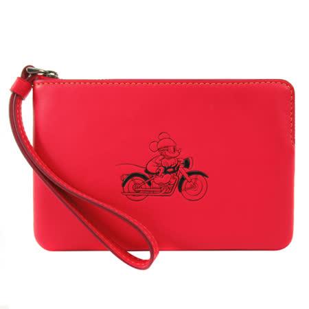 COACH 限量 米奇聯名款手拿包(紅)F59528
