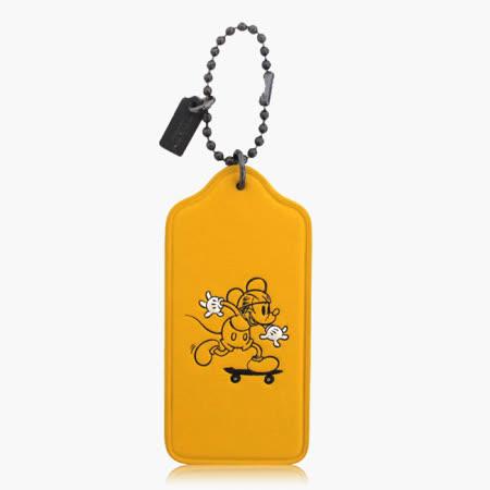 COACH 造型飾品 皮革 / 吊飾 / 鑰匙圈(米奇限定款)_黃色 59153