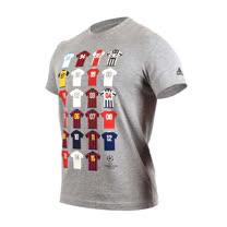 (男) ADIDAS 短袖上衣-短T T恤 足球 慢跑 路跑 愛迪達 灰