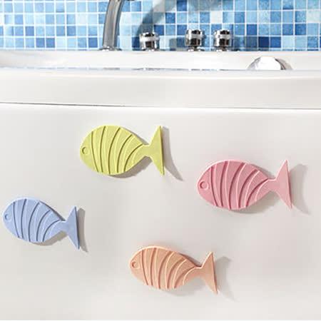 挪威森林 日本熱銷悠游小魚浴室止滑墊/吸盤式防滑墊(5入)