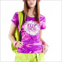 TOUCH AERO 粉紫迷彩修身T恤TA601(有分M/L雙尺寸)