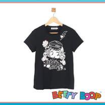 【Betty Boop貝蒂】亮粉閃電女孩涼感紗T恤(共二色)