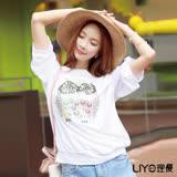 LIYO理優貓頭鷹圖騰休閒T恤E712004
