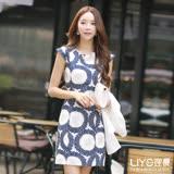 LIYO理優洋裝印花修身洋裝626071