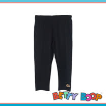 【Betty Boop貝蒂】彈性布標七分內搭褲(共二色)