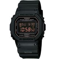 CASIO G-SHOCK 軍事風格電子錶 DW-5600MS-1 方型