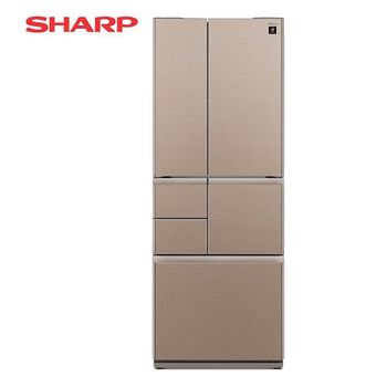 SHARP 夏普 501公升 日本原裝六門對開冰箱-星鑽棕 SJ-GT50BT-T