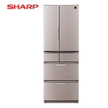 SHARP 夏普 465公升 六門日本原裝變頻冰箱-晶燦棕 SJ-XF47BT-T