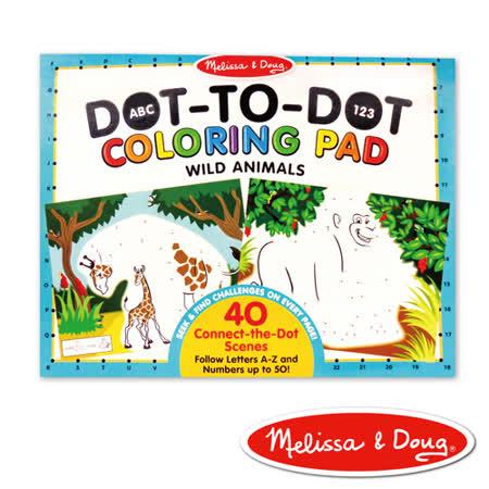 美國瑪莉莎 Melissa & Doug 大型兒童繪本 - ABC 123 點點著色本 , 野生動物