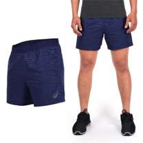 (男) ASICS FUZEX 慢跑短褲-三分褲 慢跑 路跑 亞瑟士 深藍銀黑