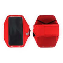 NIKE 輕量手機萬用臂包-慢跑 路跑 手機包 4.7吋螢幕適用 紅 F