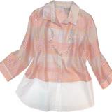 【波克貓哈日網】日系七分袖襯衫◇Glitzern◇《粉色半透條紋》