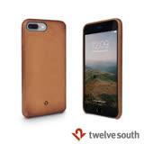 Twelve South Relaxed Leather iPhone 7 Plus 皮革保護背蓋 - 干邑棕