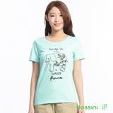 bossini女裝-印花短袖T恤78薄荷綠