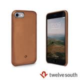 Twelve South Relaxed Leather iPhone 7 皮革保護背蓋 - 干邑棕
