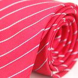 【雅派Alpaca】紅底白斜紋領帶(品特)