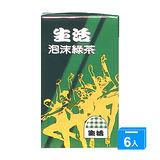 M-生活泡沫綠茶250ml*6