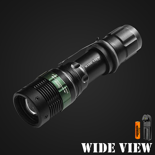 ~WIDE VIEW~Q5 LED強光變焦手電筒組 ZL~W109~AT