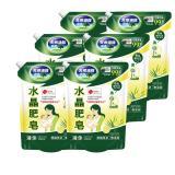 南僑水晶肥皂洗衣液体補充包1600gx6包/箱