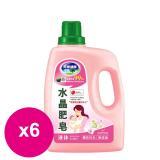 南僑水晶肥皂洗衣液体2.4kgx6瓶/箱-櫻花百合