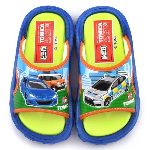 童鞋城堡~Tomica多美小汽車 中童 戶外拖鞋TM0896~藍