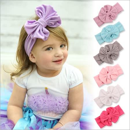 兒童髮帶嬰兒髮飾 玫瑰珍珠花朵雪紡寶寶頭飾-三件入
