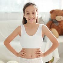 【Anny pepe】成長型內衣-精梳美國棉繡花背心型-白