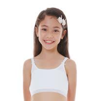 【Anny pepe】成長型內衣-精梳美國棉雙肩帶型-白