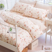 OLIVIA 《 花見 》 雙人床包枕套三件組 嚴選印花系列